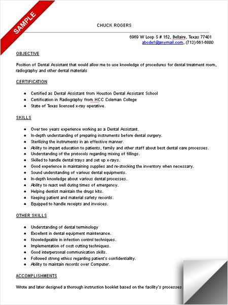dental assistant resume sample objective skills fun facts pediatric with little work Resume Pediatric Dental Assistant Resume