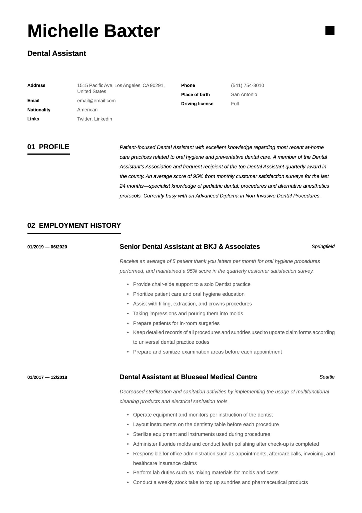 dental assistant resumes writing guide pediatric resume scaled templates for word avid Resume Pediatric Dental Assistant Resume