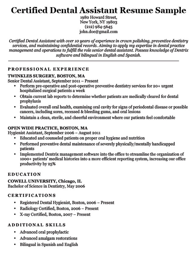 dentist assistant resume samples ipasphoto dental examples with no experience certified Resume Dental Assistant Resume Examples With No Experience