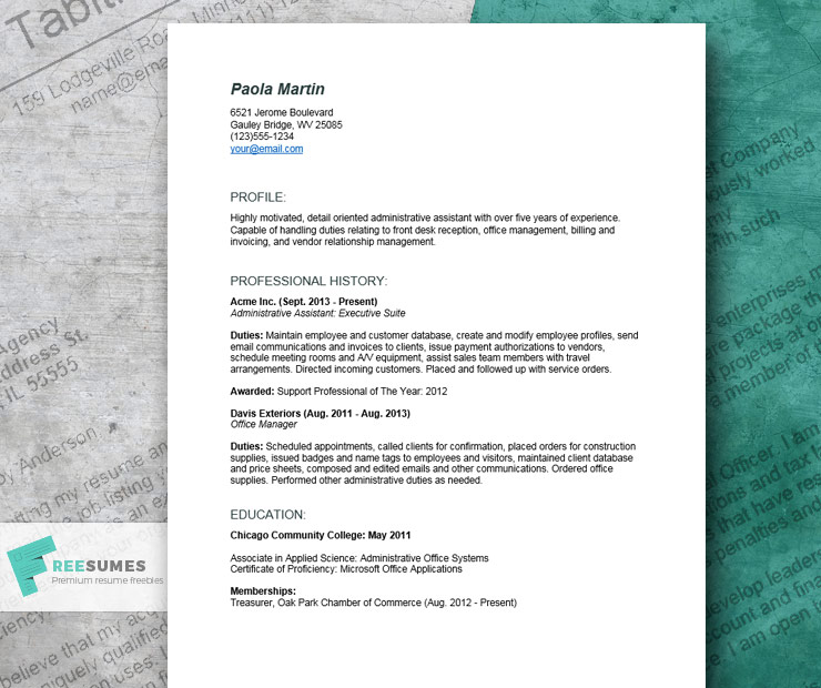 detailed resume example for an administrative assistant freesumes format functional Resume Resume Format For Administrative Assistant