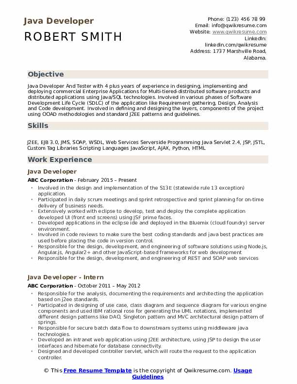 developer resume samples qwikresume projects for pdf help customer service number free Resume Java Projects For Resume