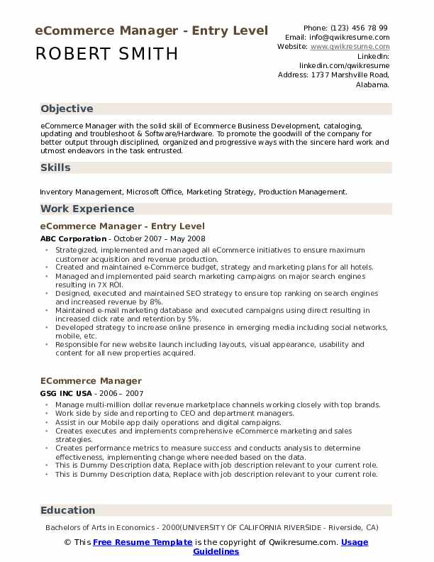 ecommerce manager resume samples qwikresume description for pdf supply chain business Resume Ecommerce Description For Resume