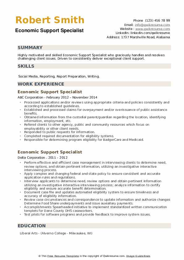 economic support specialist resume samples qwikresume pdf tenses english format for Resume Economic Support Specialist Resume