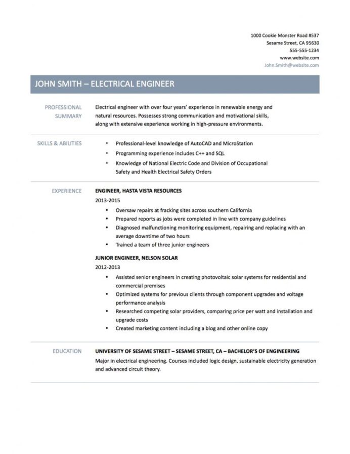 electrical engineer resume samples tips and templates by builders medium of solar Resume Resume Of Solar Engineer