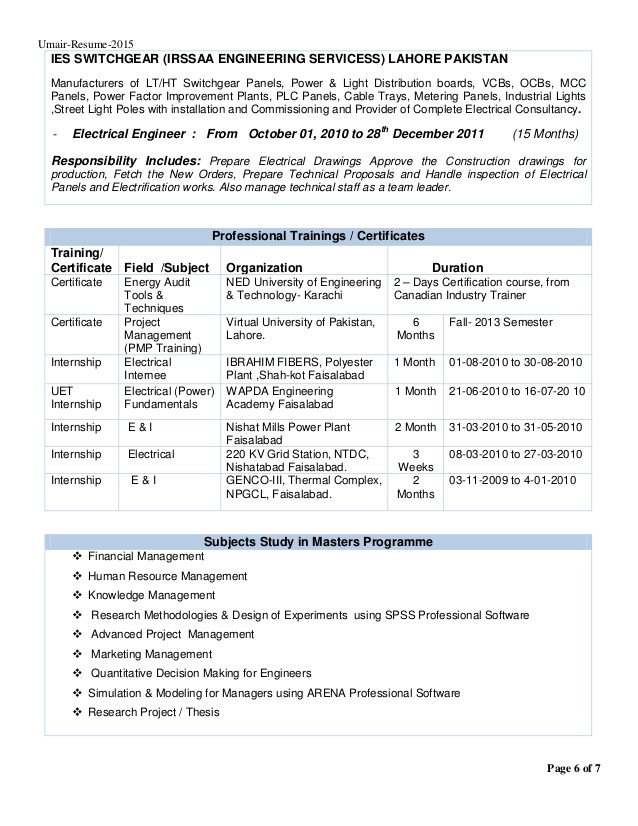 electrical marketing engineer resume march panel board design umairelectrical engineers Resume Panel Board Design Engineer Resume