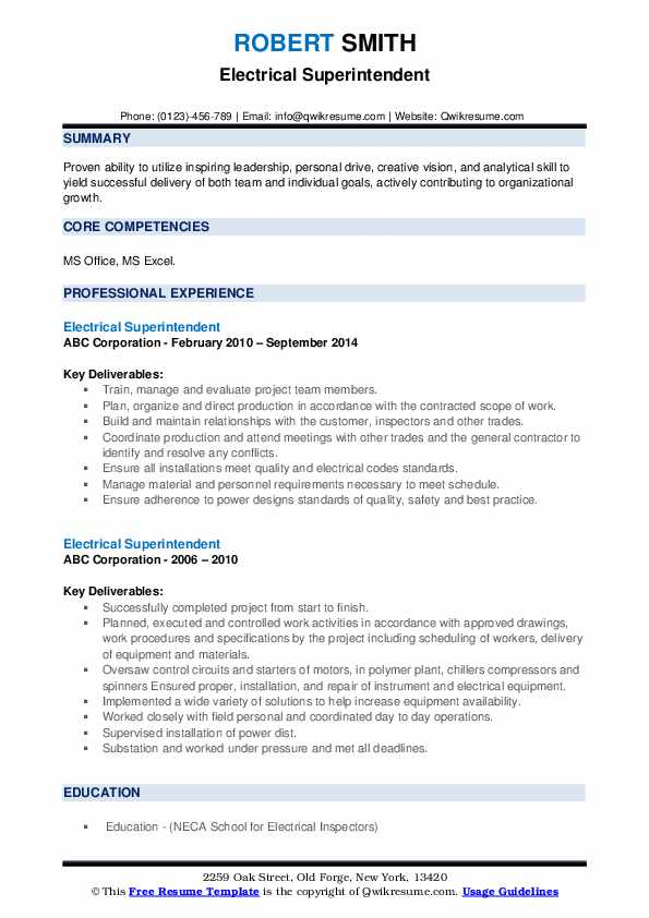 electrical superintendent resume samples qwikresume pdf example of movers home Resume Electrical Superintendent Resume
