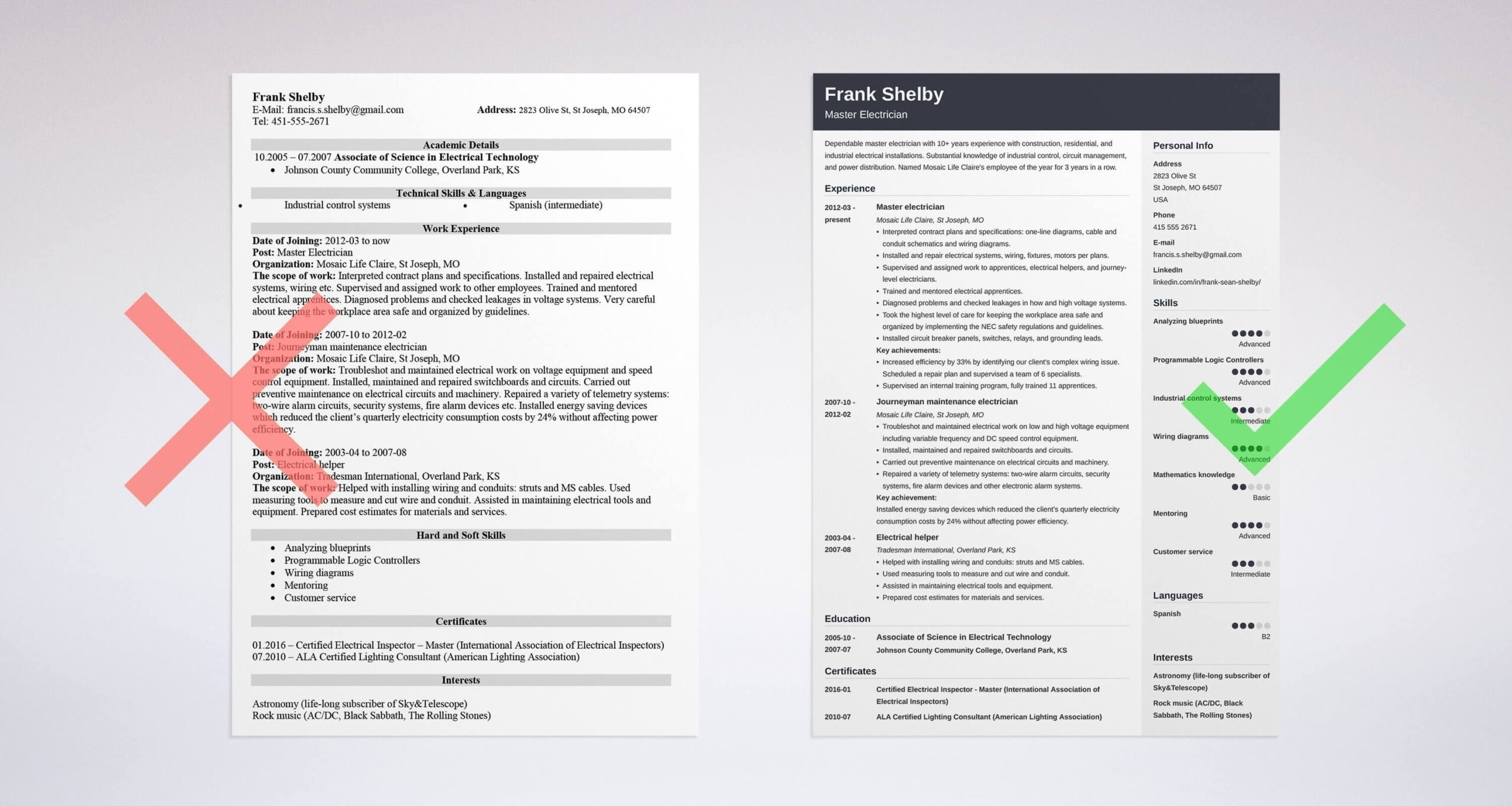 electrician resume examples apprentice journeyman master oil and gas electrical Resume Oil And Gas Electrical Technician Resume