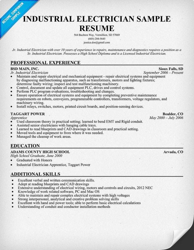 electrician resume writing services sample and skills free templates examples ideas Resume Free Electrician Resume Templates