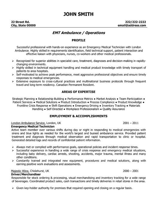 emergency medical technician resume template premium samples example assistant free emt Resume Free Emt Resume Templates