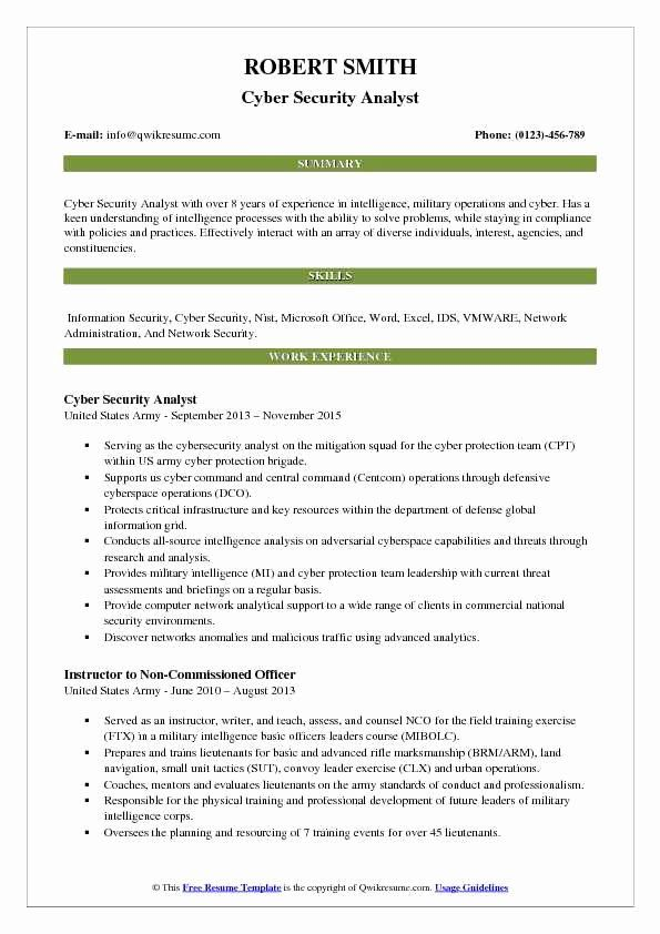 entry level cyber security resume with no experience inspirational analyst resum business Resume Entry Level Cyber Security Resume