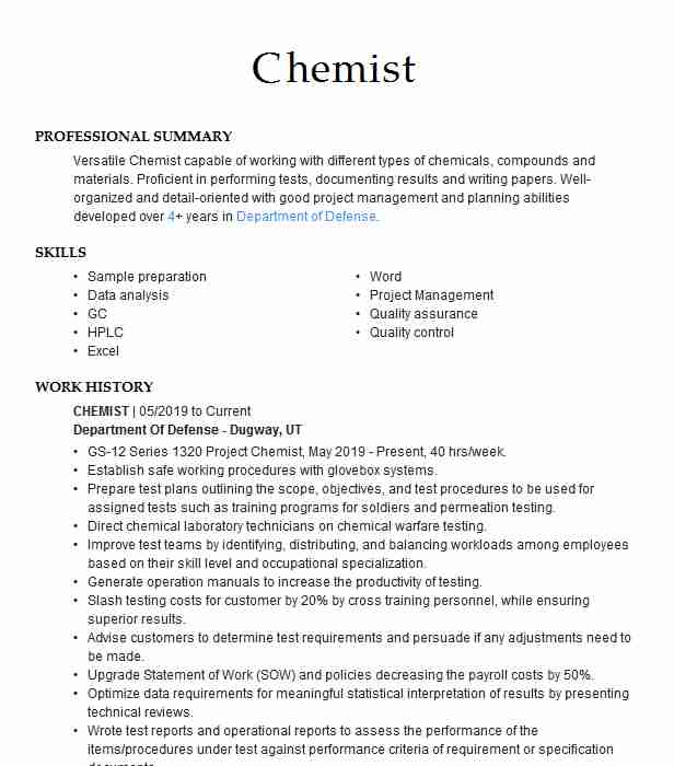 environmental chemist resume example of mines albuquerque new chemical project engineer Resume Environmental Chemist Resume