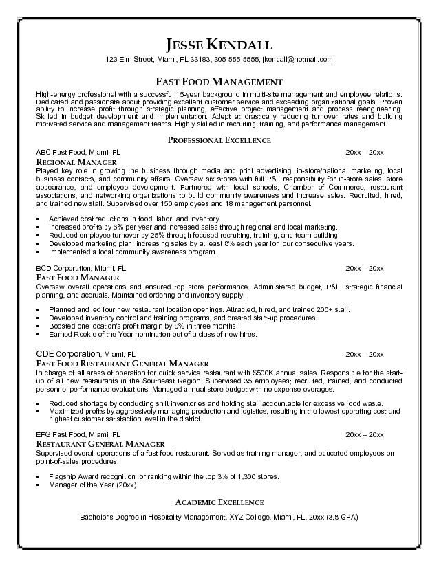 example resume for food industry similar articles fast worker sample job process Resume Fast Food Worker Resume