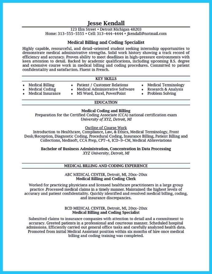 exciting billing specialist resume that brings the job to you medical for with insurance Resume Medical Billing Specialist Resume