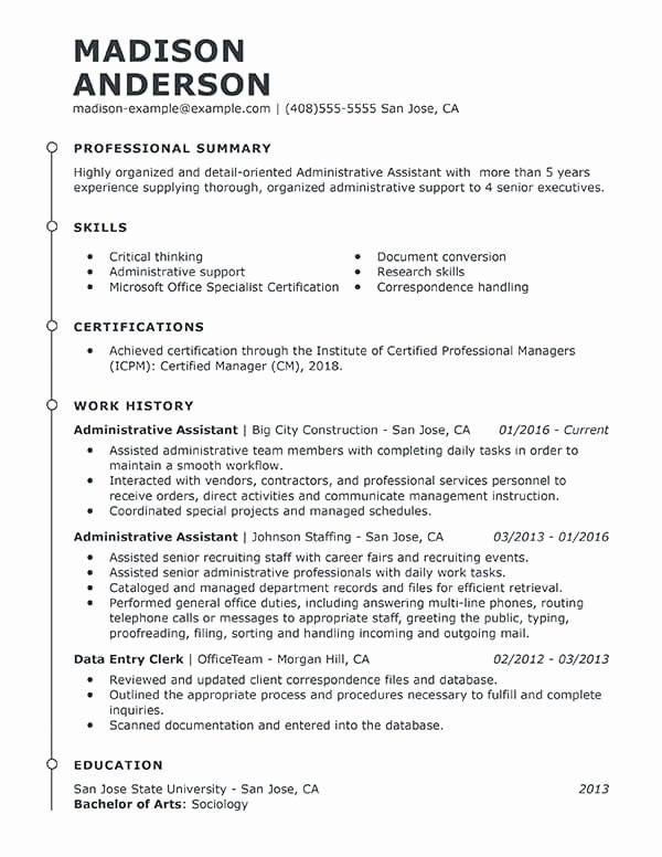 executive assistant resume summary fresh best administrative example elfaro format for of Resume Best Resume Format For Executive Assistant