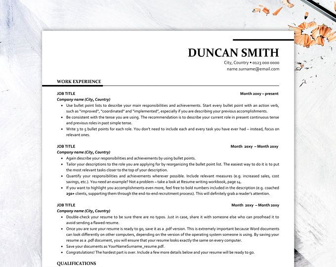 executive resume template ats friendly with icons etsy free word headline for Resume Ats Friendly Resume Template Free 2020