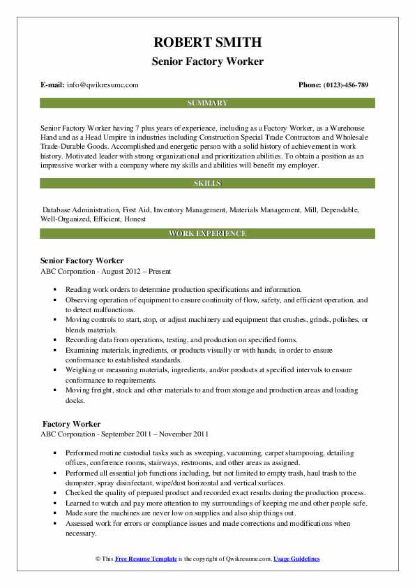 factory worker resume samples qwikresume objective for plant pdf fulfillment coordinator Resume Resume For Factory Job