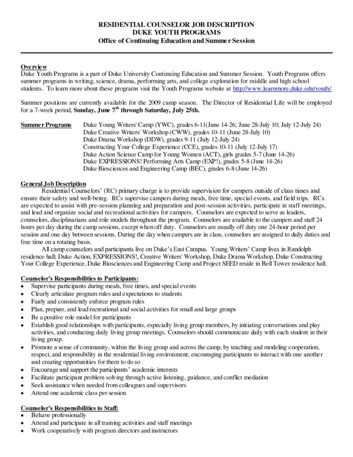 fantastic summer ideas for counselors residential counselor resume sample of email Resume Residential Counselor Resume