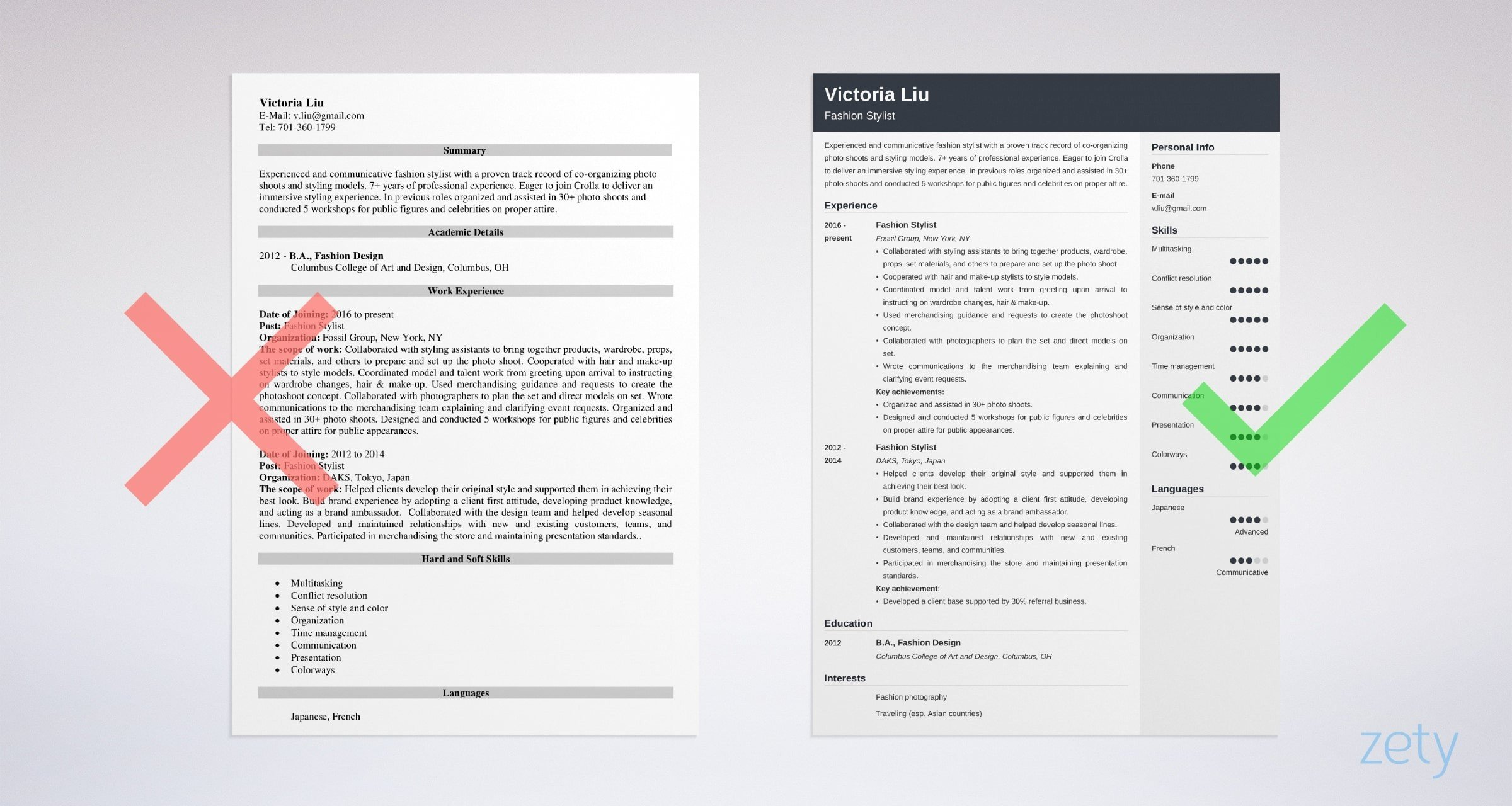 fashion stylist resume examples writing guide tips assistant example sample of Resume Fashion Stylist Assistant Resume