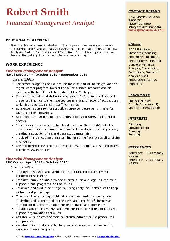 financial management analyst resume samples qwikresume budget federal government pdf for Resume Budgeting Skills For Resume