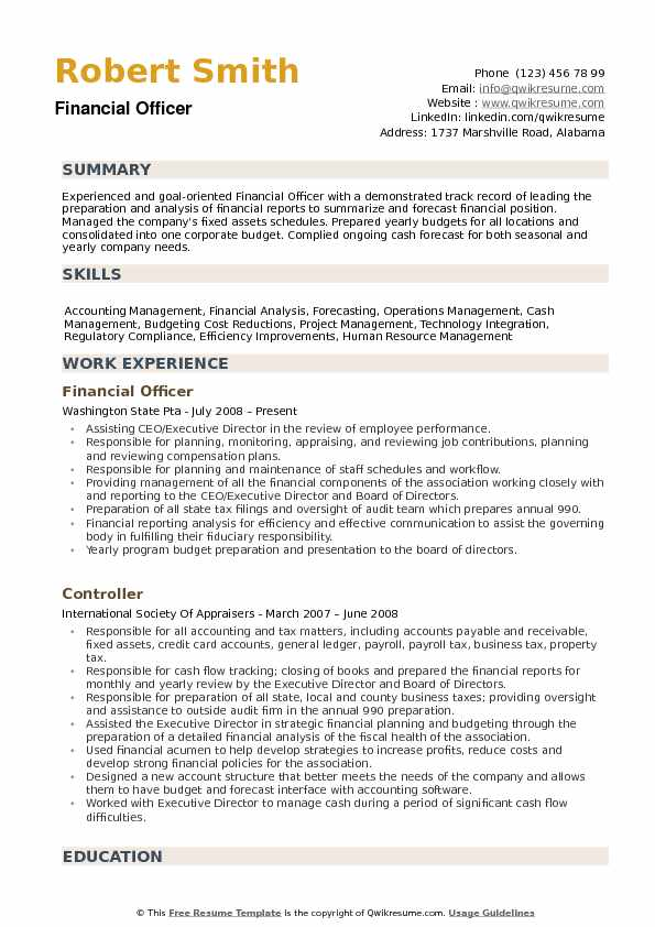 financial officer resume samples qwikresume summary for management position pdf with Resume Resume Summary For Management Position