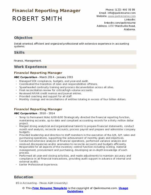 financial reporting manager resume samples qwikresume pdf helpful skills for supply chain Resume Financial Reporting Manager Resume