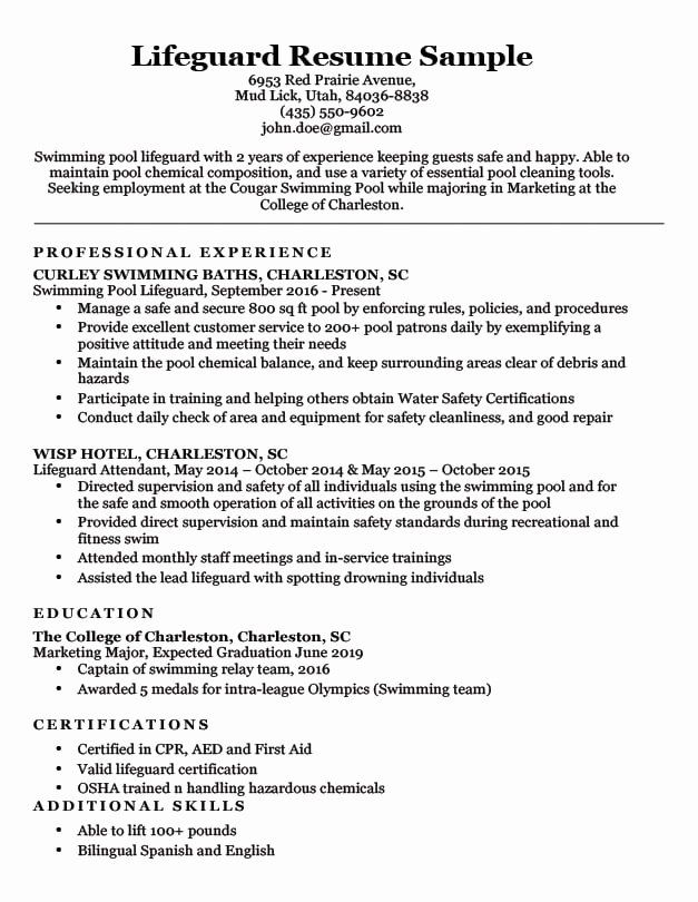 firefighter job description resume awesome lifeguard sample writing ti examples objective Resume Lifeguard Skills For Resume