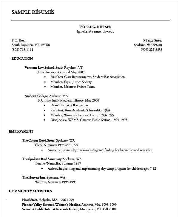 first resume templates pdf free premium year college student post silicon validation Resume First Year College Student Resume