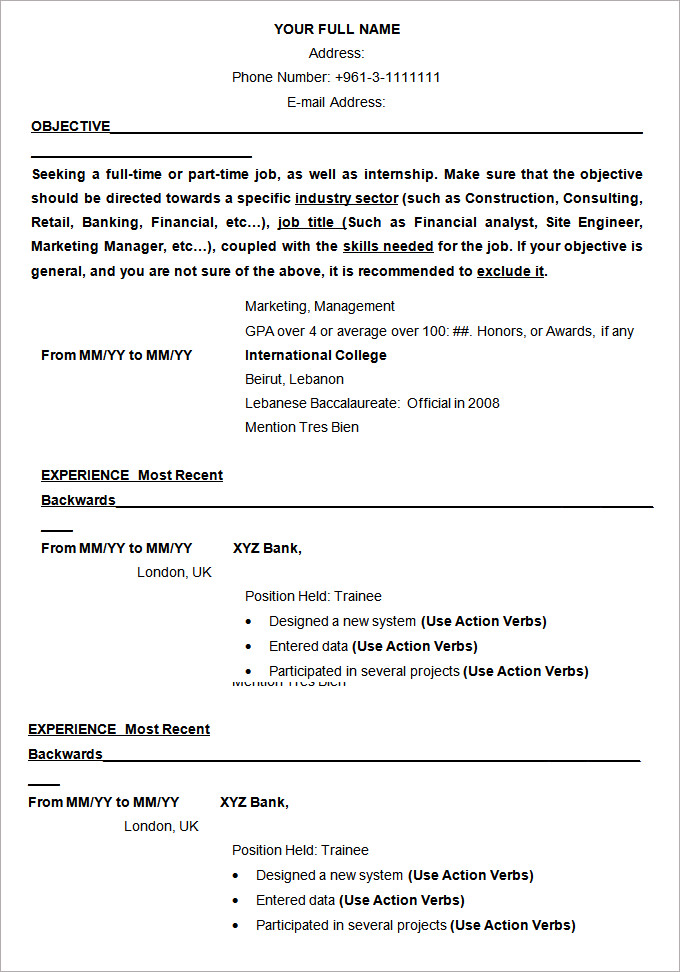 for resume samples formats format and examples office assistant new cna whats on entry Resume Resume Format And Examples