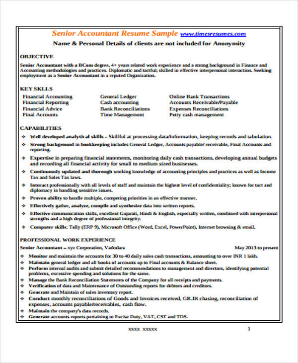 free accountant resume samples in ms word senior objective examples pdf hong kong example Resume Senior Accountant Resume Objective Examples