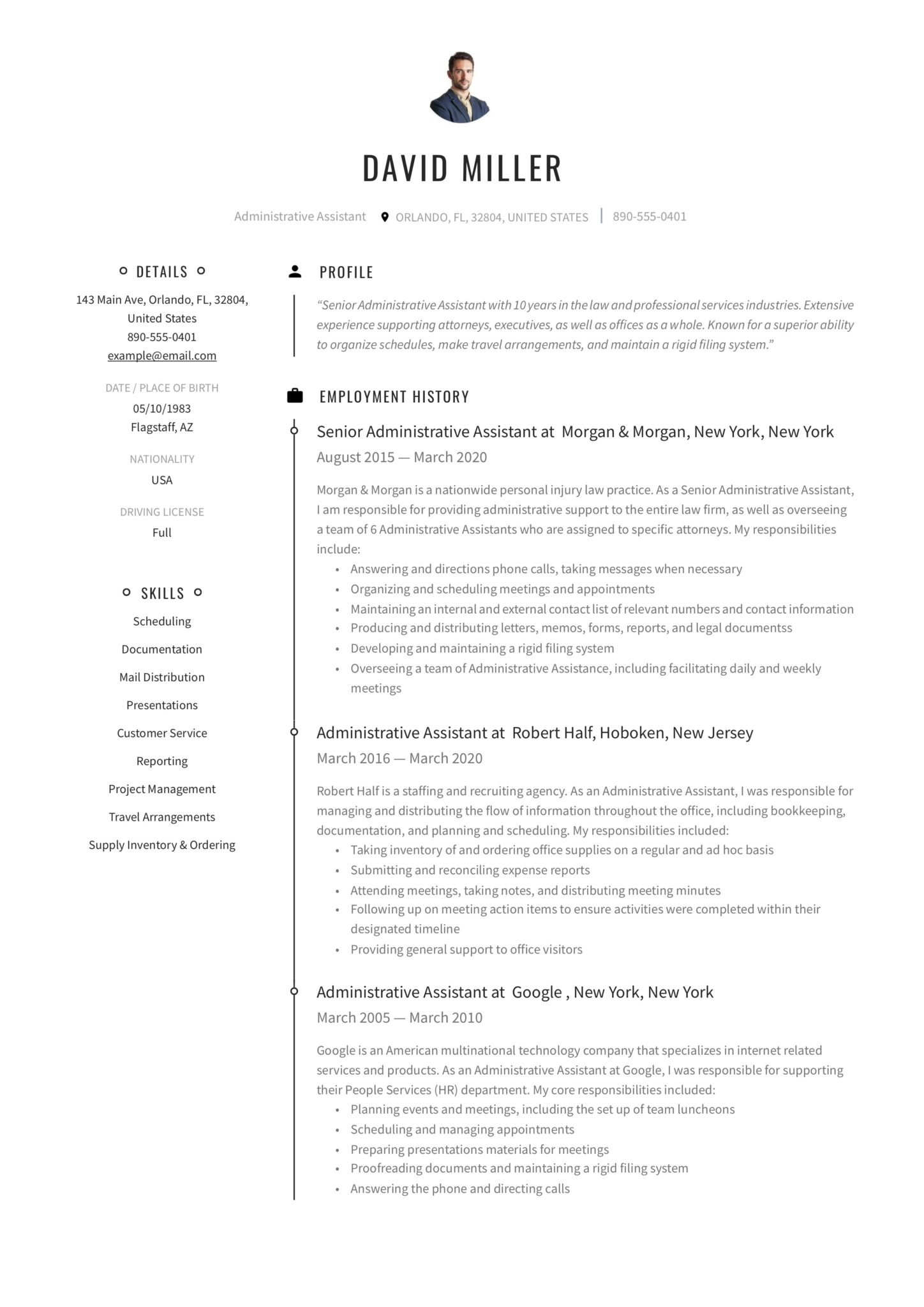 free administrative assistant resumes writing guide pdf executive resume template scaled Resume Executive Assistant Resume Template