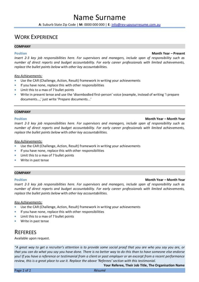 free australian resume template rev up your ats covid program coordinator channel Resume Ats Resume Template 2020