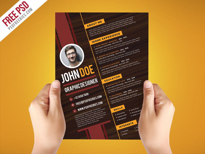 free creative graphic designer resume template on behance design file meaning reverse Resume Free Graphic Design Resume Template