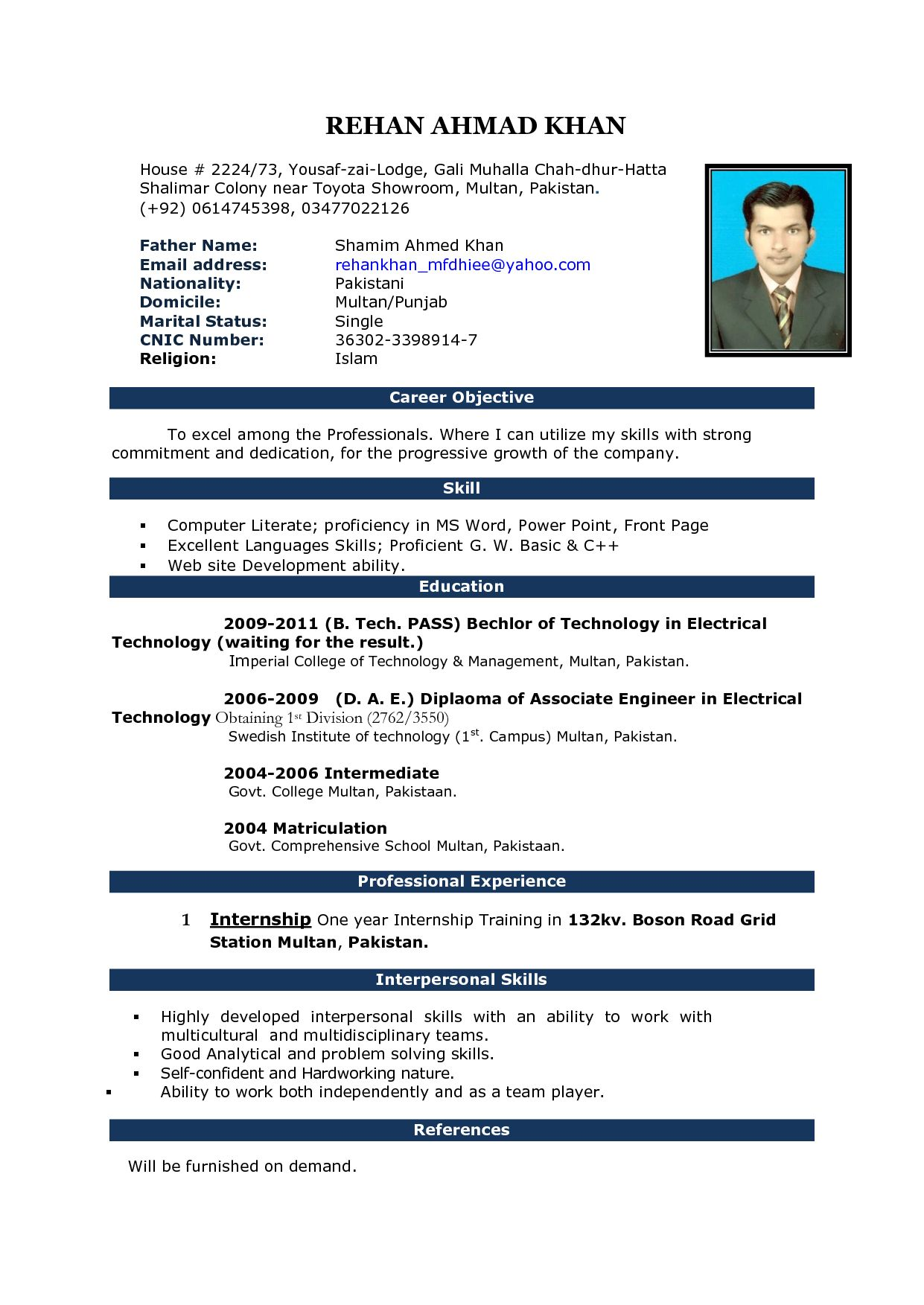 free cv format in ms word fieldstationco microsoft office resume templates executive Resume Resume Format Microsoft Word