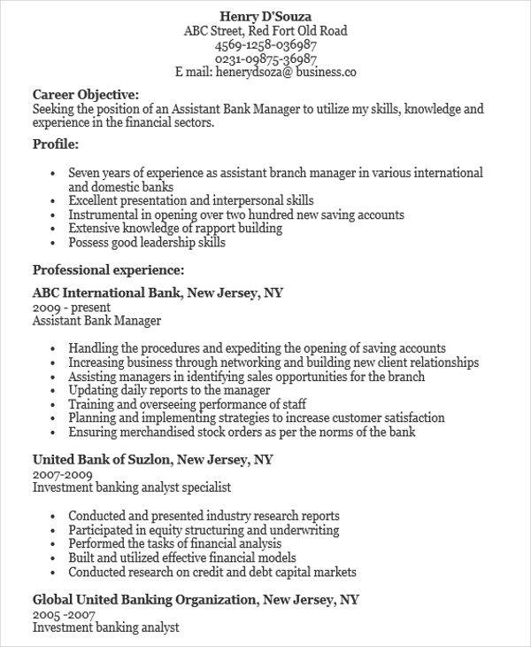 free manager resume samples in ms word apple bank sample assistant resume1 current Resume Bank Manager Resume Sample