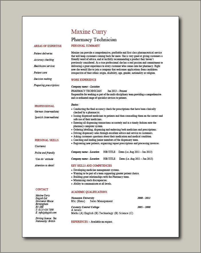 free pharmacy technician cv templates resume template for call center agent hotel best Resume Pharmacy Technician Resume Template Free
