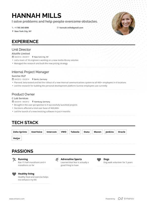free resume builder enhancv best identity and access management examples translate into Resume Best Resume Online Free