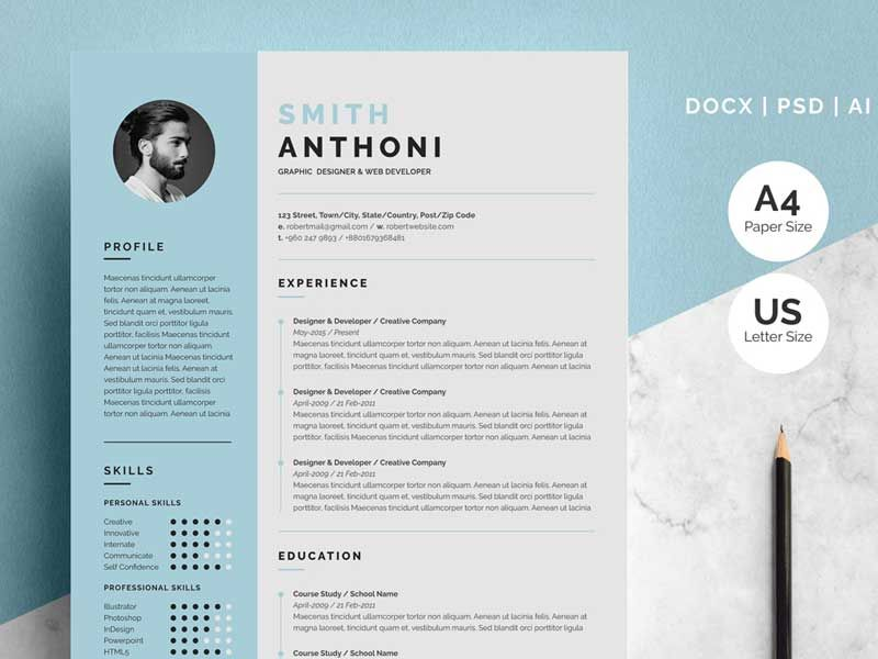 free resume template downloadable cv templates word best two format background actor Resume Best Two Page Resume Format