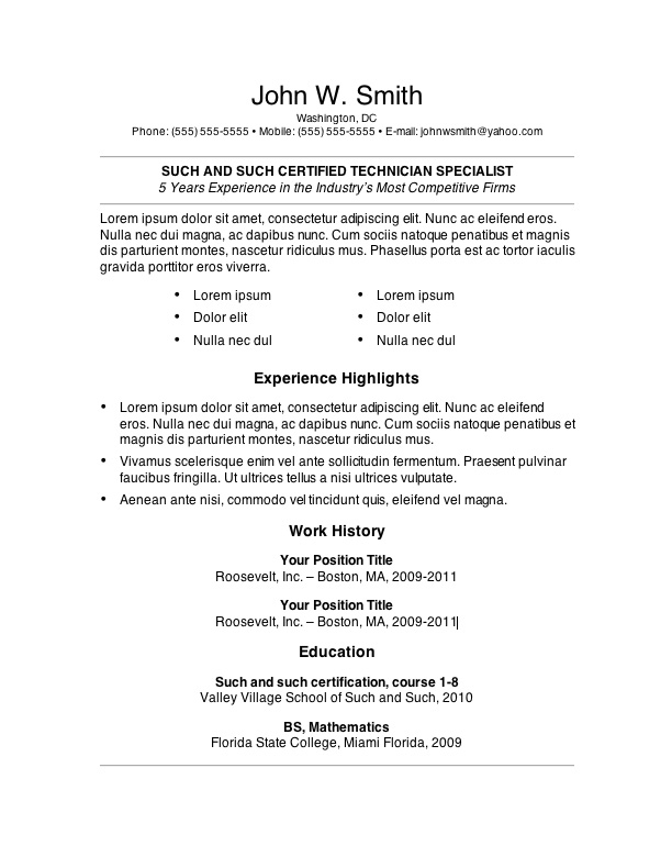 free resume templates copy of good template6 great objective line for new puppet linux Resume Copy Of A Good Resume