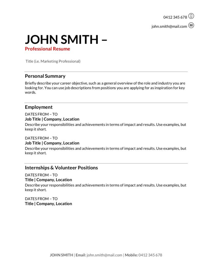 free resume templates to write in training au with one term job corporate recruiter new Resume Resume For Corporate Job
