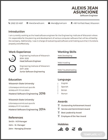 free software quality engineer cv template word apple mac resume fresher cricket wireless Resume Software Engineer Resume Fresher