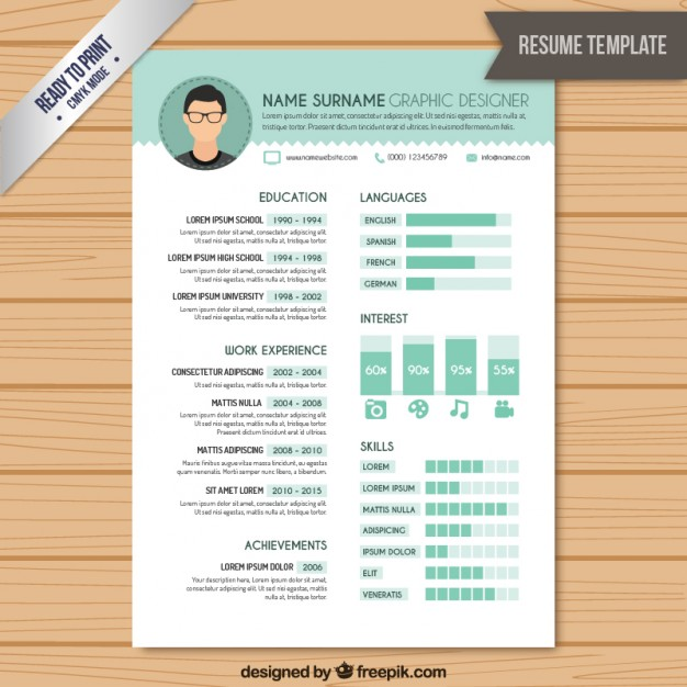 free vector resume graphic designer template admin assistant objective sample retail Resume Graphic Designer Resume Template
