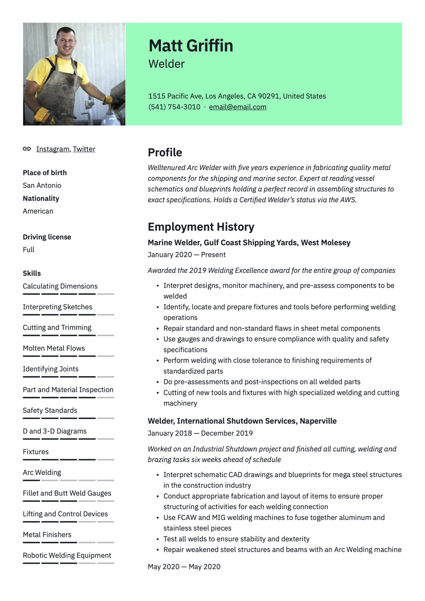 free welder resume examples guide pdf sample for position scaled general manager office Resume Sample Resume For Welder Position