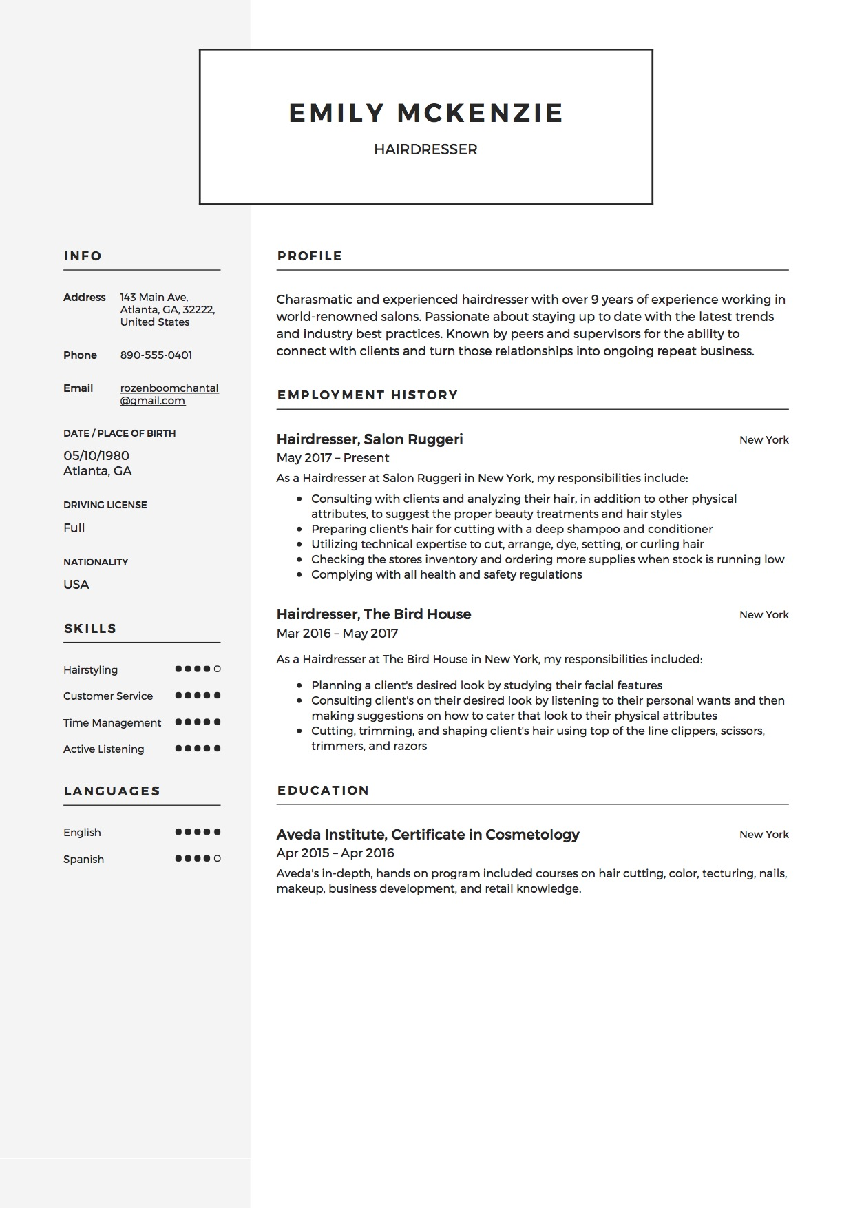 full guide hairdresser resume examples pdf cosmetologist samples just out of school emily Resume Cosmetologist Resume Samples Just Out Of School