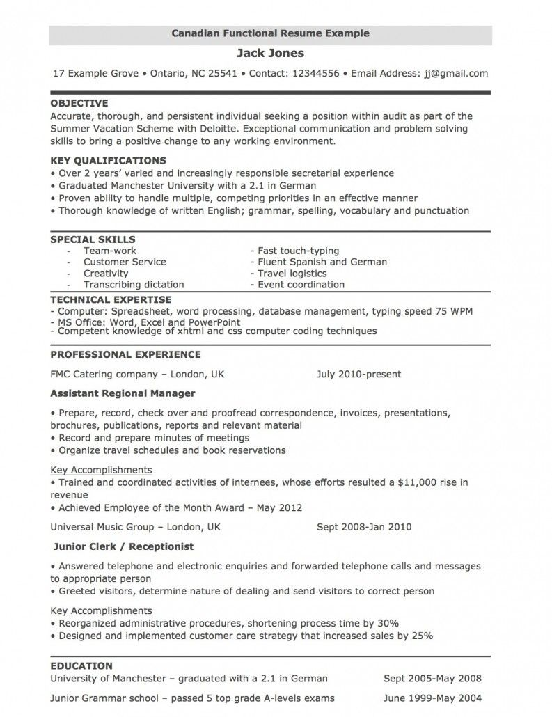 functional resume template free addictionary ideas procurement administrative assistant Resume Canadian Resume Template Download