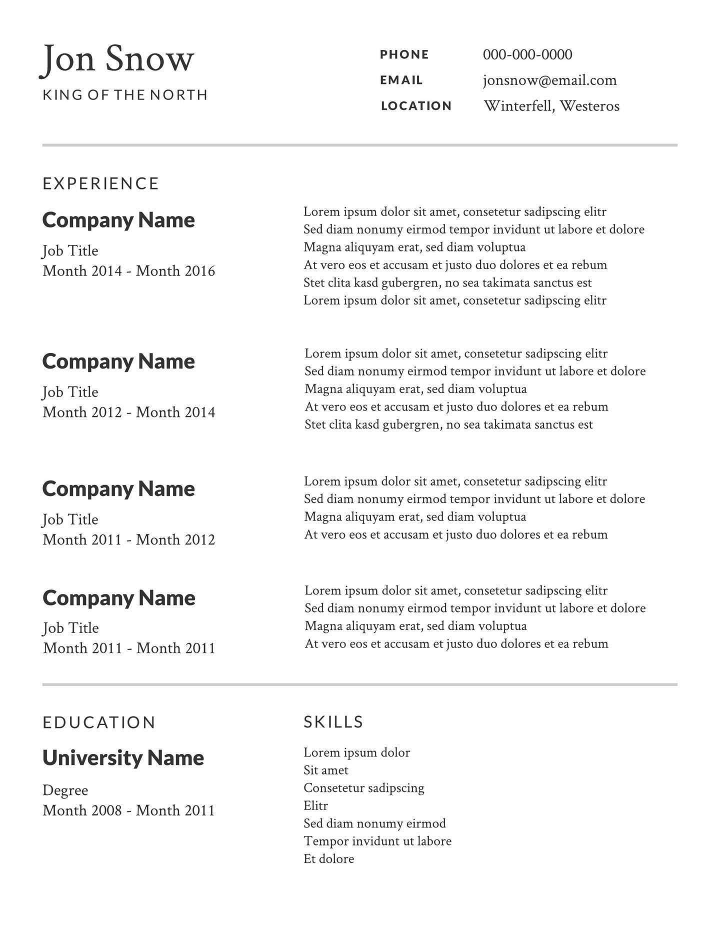 good resume template free addictionary best examples impressive templates high resolution Resume Best Resume Examples Free