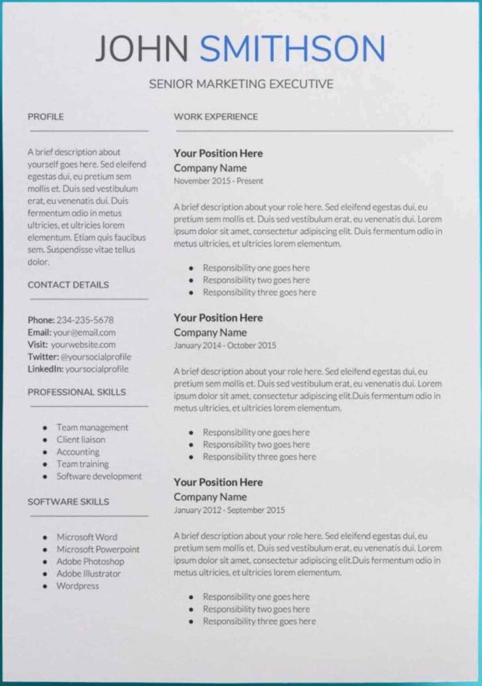 google docs resume templates downloadable pdfs formats for saturn template free hvac Resume Resume Formats For Google Docs