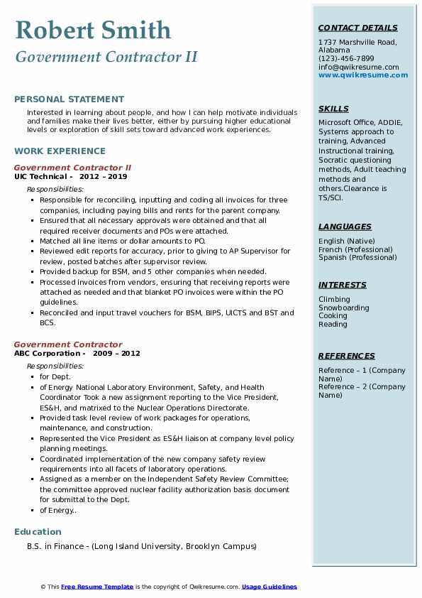 government contractor resume samples qwikresume federal pdf computer software programs Resume Federal Contractor Resume