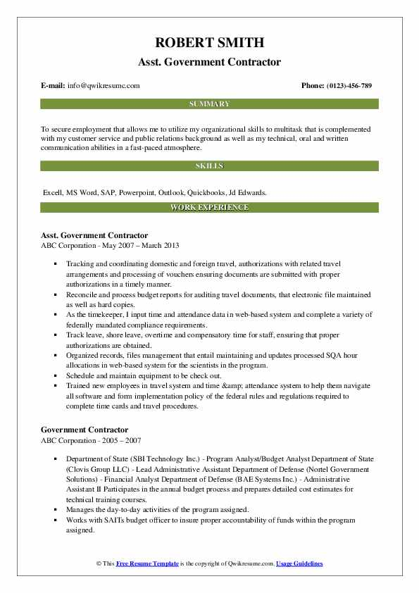 government contractor resume samples qwikresume federal pdf home health nurse job Resume Federal Contractor Resume