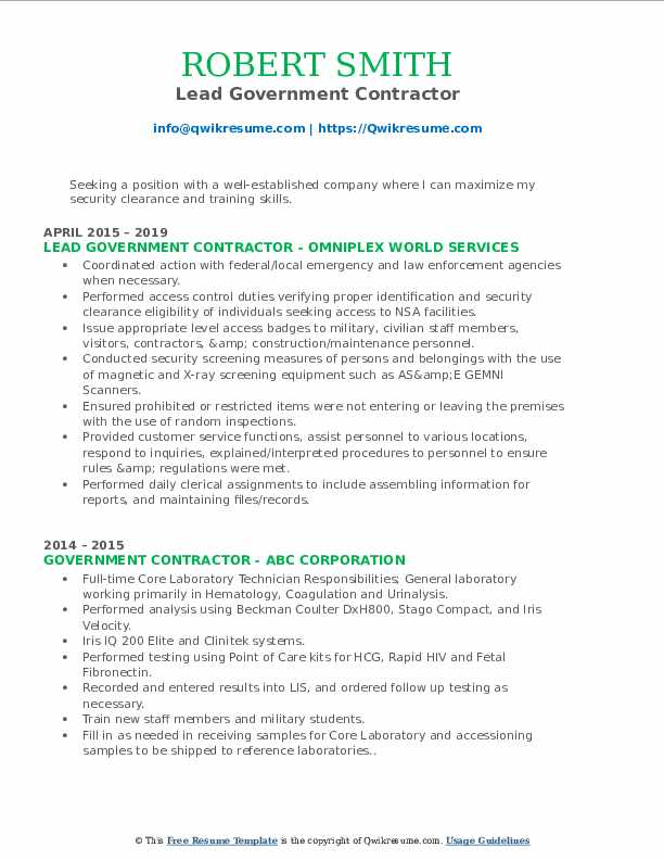 government contractor resume samples qwikresume federal pdf mbbs format administrative Resume Federal Contractor Resume