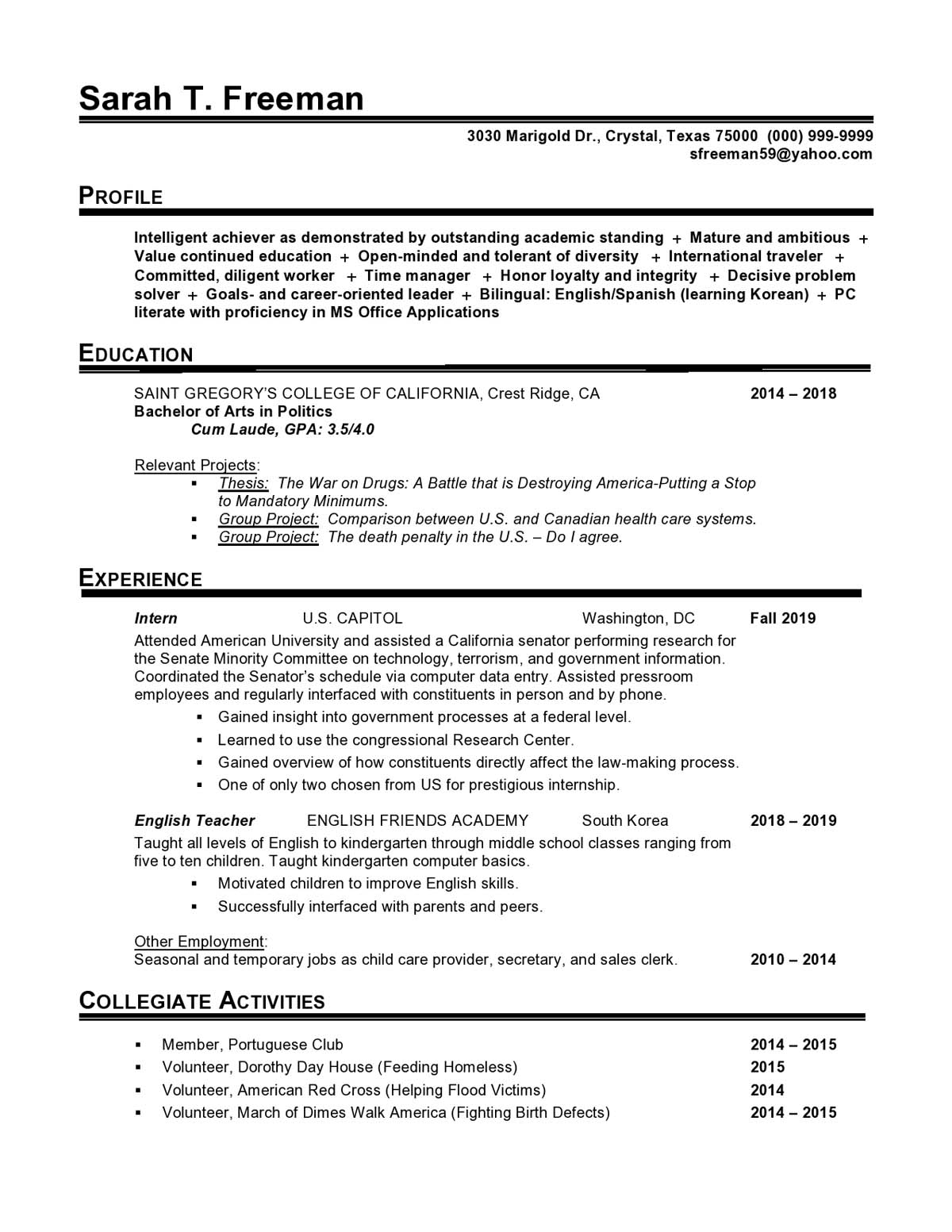 government entry level resume samples templates vault profile examples cresch15 med Resume Entry Level Resume Profile Examples